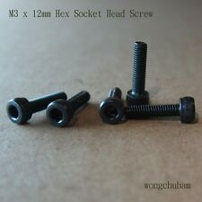 M3 x 12mm Hex Socket Head Screw - 50 pcs