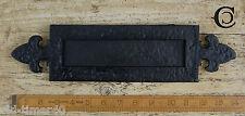 35.6cmx7.6cm Riproduzione giglio Cera Nera Porta Cassetta delle lettere Piatto