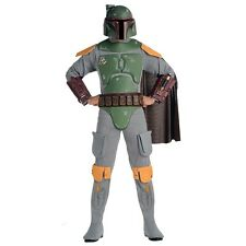 Deluxe Boba Fett Adult Costume Star Wars Bounty Hunter Halloween Fancy Dress STD