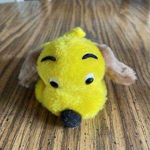 "RARE Vintage R. Dakin & Co Drooper Dog 17 Yellow Puppy Stuffed Animal 6"" 1973"