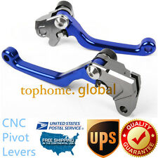 For Yamaha WR450F 2005-2015 Clutch Brake Pivot Levers CNC Blue US Stock Pair