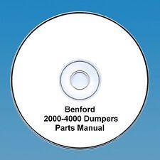 Benford 2000 - 4000 4wd Dumpers -Operators & Parts Manual