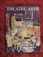 THEATRE ARTS February 1958 Cedric Hardwicke Gore Vidal William Inge Dore Schary