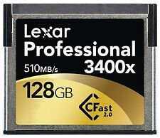 Lexar 3400x 128GB CFast 2.0 Memory Card For URSA Amira XC10 C300 MARKII 1DX2