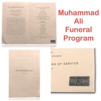 MUHAMMAD ALI GENUINE FUNERAL PAMPHLET PROGRAM FAMILY COA AUTHENTIC CASSIUS CLAY