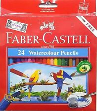 Faber-Castell 24 Watercolour Pencils With Free Brush