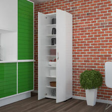 Wooden Kitchen Cabinet Cupboard Unit Tall Organiser Shelves Storage Furniture UK