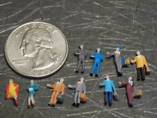 Train Station Passengers People Set of 10  N Scale 1:160 Railroad Figures A9