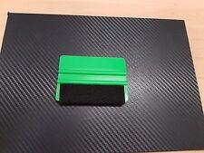 GREEN VINYL SQUEEGEE / APPLICATOR WITH FELT EDGE