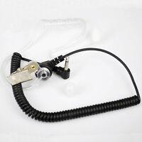 3.5MM Listen Only D Shape earphone headset Earpiece Earhook FOR SPEAKER MIC  4I3