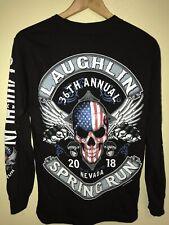 Laughlin 36th Nevada Spring Run Biker Club Long Sleeve Size S