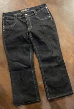 Women's ANGLES Flap Pocket Boot Cut Jeans Size 20 - Hemmed