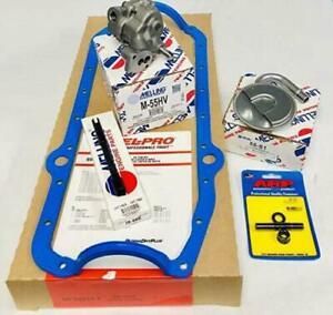 Melling HIGH Volume Oil Pump+Oil Pan Gasket+Shaft+Pickup+Stud Chevy 350 383 400