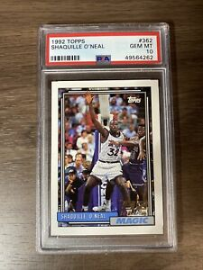 1992 Topps Shaquille O'Neal #362 RC Rookie PSA 10