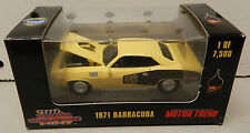 1971 CUDA BARRACUDA PLYMOUTH 71 YELLOW MOPAR BOX 1 OF 7,500 440 RACING CHAMPIONS
