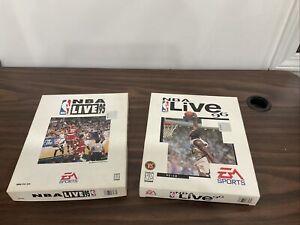 Lot of 2 NBA live 95 96 IBM PC-CD EA sports for MS-DOS Rare Big Box