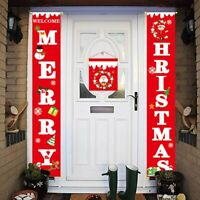 Porch Banner Christmas Outdoor Decoration For Home Decor Hanging Merry Christmas