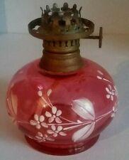 Lampe à pétrole verre émaillé 1900 petit modèle