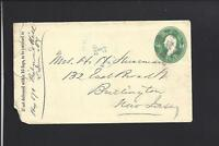 RICHMOND HILL,QUEENS CO,NEW YORK 1882 COVER LETTER ENCL. QUEENS CO DPO 1872/99.