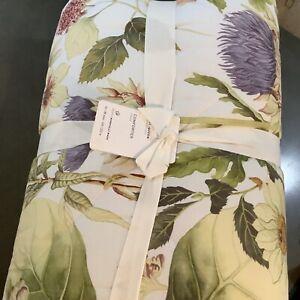 Pottery Barn Thistle Print Cotton F/Q Quilt Comforter #2034