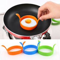 Silicone Round Egg Ring Pancake Mold Ring With Handle Kitchen Cooking Utensil