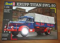 Krupp Titan SWL 80 Pritsche Platform truck Revell 07559 Bausatz Kit 1:24