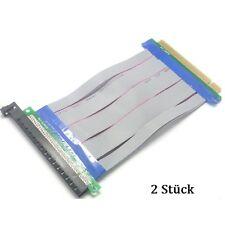 2 Stück PCI-E16X Riser Karte Ribbon Extender Kabel Cable Verlängerungskabel