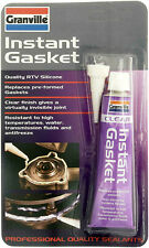 2 x Granville Instant Gasket Clear Sealant RTV Silicone Flexible Waterproof 40g