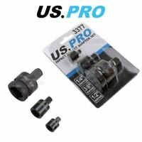 """US PRO Tools Impact Socket Adapter Set 1/4"""" 3/8"""" 1/2"""" Dr Step Down Reducer 3377"""