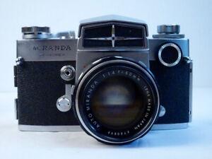 Miranda Sensorex Vintage 35mm Film Camera w/50mm f/1.4 Lens  Original Case