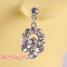 Orecchini di bigiotteria ovale pendenti in argento