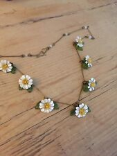 Vintage Style Festival Bohemian Daisy Chain enamel flower necklace
