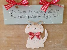 Pet Dog Puppy Sign No Home Is Complete Handmade Doggy Plaque Wooden Dog Grooming