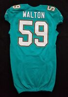#59 Walton of Dolphins NFL Locker Room Game Issued Jersey w/50th Anv. Patch