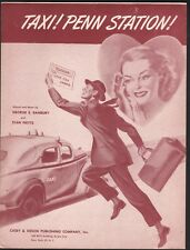 Taxi Penn Station 1946 Sheet Music