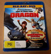 HOW TO TRAIN YOUR DRAGON blu-ray + dvd combo REGION B toothless DREAMWORKS