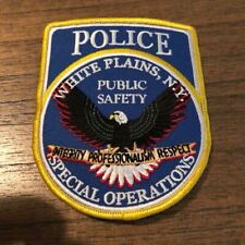 White Plains New York Police Patch Special Operations Unit Westchester NY