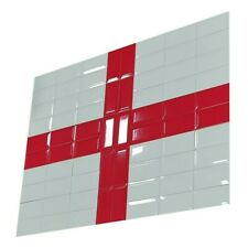 More details for set of england flag - football is coming home - ceramic tile decorate your wall