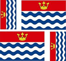 4 x sticker vinyl decal county flag uk bumper windows car moto greater london