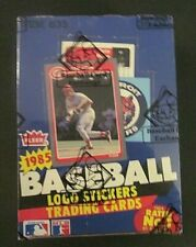 1985 Fleer Baseball 36 Pack Wax Box BBCE Authentic (PUCKETT, CLEMENS PSA 10?)