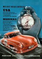 1953 PORSCHE 356 COUPE SPORTS CAR 12X18 POSTER AUTO RACING STOP WATCH GRAPHICS