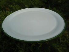 Plateau émaillé 35 cm blanc émail ( Pizza, Tarte) neuf émail véritable F. France