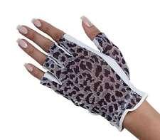 Ladies Solar Tan Golf Half Finger Gloves Small Left Hand Black Cheeta Print Gift