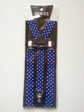 STYLISH FASHIONABLE MENS/LADIES POLKA SPOT BRACES SUSPENDERS  2.5cm