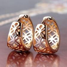 HUCHE 18k Silver & Gold Filled Hollow Women Lady Hoop Dangle Earrings Studs NEW