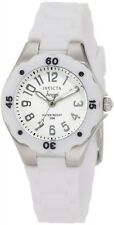 New Ladies Invicta 1626 Angel White Dial White Strap Swiss Quartz Casual Watch