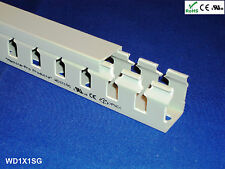 """1 New 1""""x1""""x2m Wide Finger Open Slot Wire Cable Raceway Duct,PVC Material,White"""