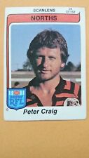 Scanlens Rugby League 1980 #28 Peter Craig