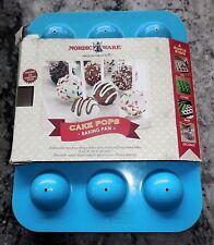 Nordic Ware - Cake Pops Blue Teal Non-Stick Cake Pan (VGUC)