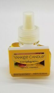 Yankee Candle - Scent Plug Refill Bulb - TROPICAL STARFRUIT SCENT NEW WITH TAGS